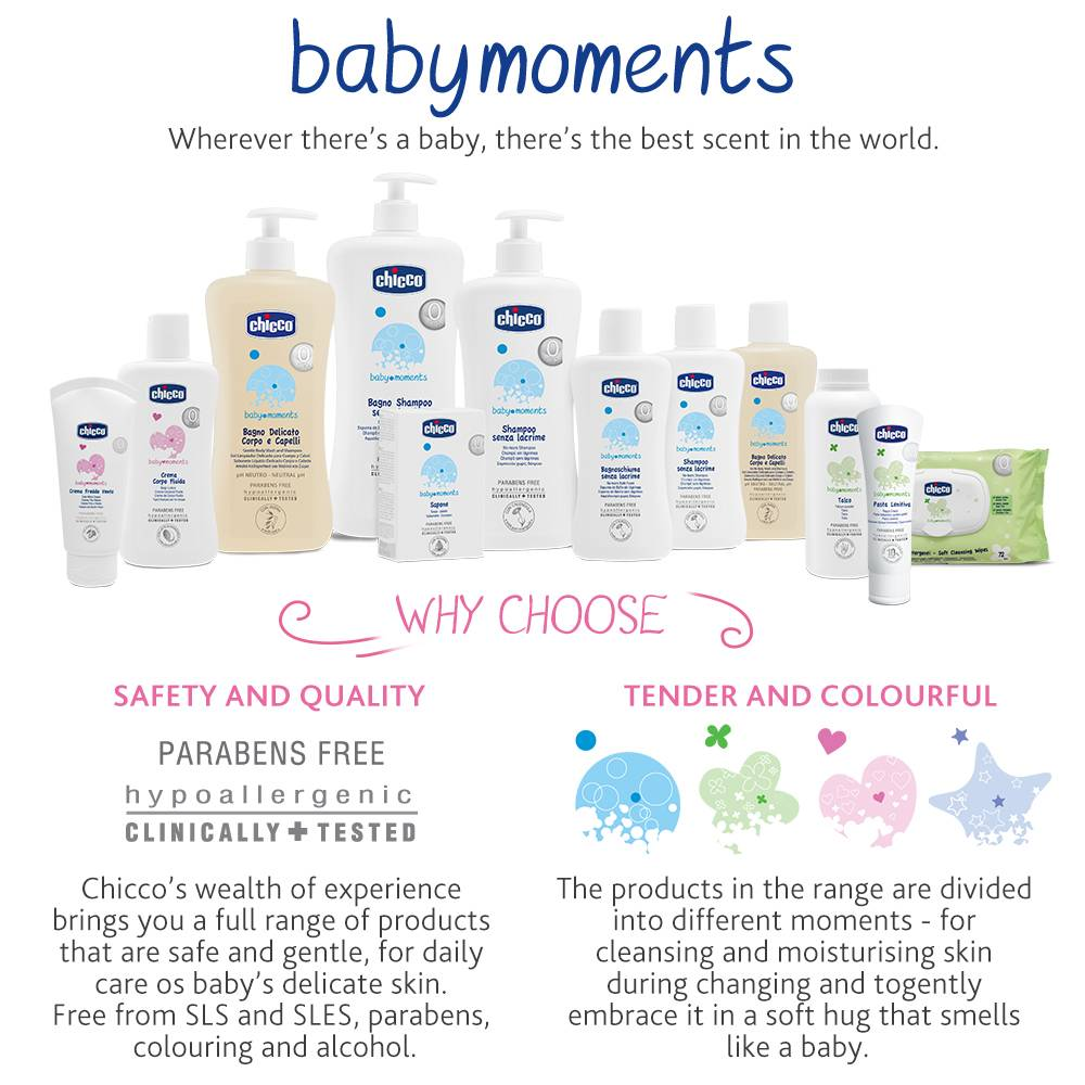 Chicco Baby Moments No Tears Bath Shampoo