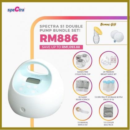 Spectra S1 Plus Double Breastpump Baby Fair Bundle Set
