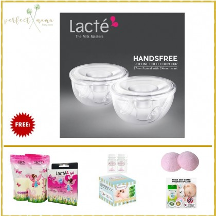 Lacte Handsfree Silicone Collection Cup 27mm Funnel with 24mm Insert