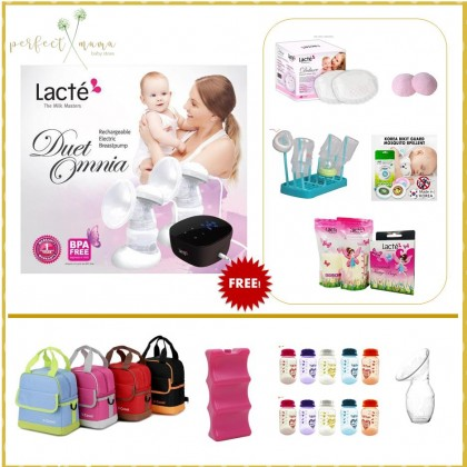 Lacte Omnia Rechargeable Double Electric Breastpump