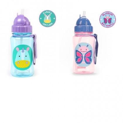 Skip Hop Zoo Straw Bottle 12oz