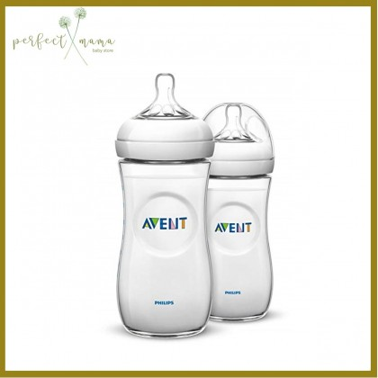Avent Natural Bottle 11oz/330ml Twin Pack