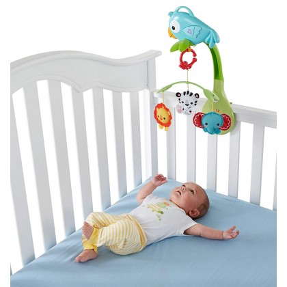 Fisher Price Rainforest Friends 3 In 1 Musical Mobile