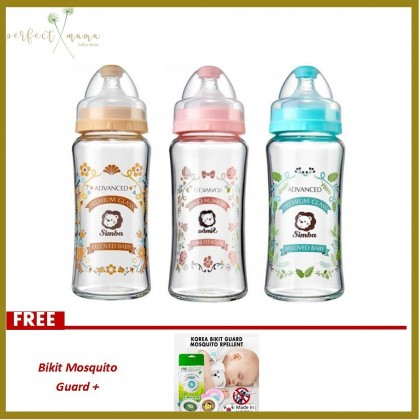 Simba Romance Wide Neck Glass Feeding Bottle 270ml/9oz